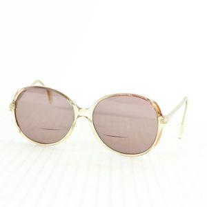 Vtg 60s Metzler Germany Womens Sunglasses Clear